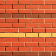 Red Brick Wall with Feature Rows — Stock Photo #2367731