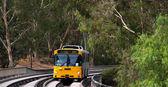 Bus on the O-bahn Track, Australia — Stock Photo