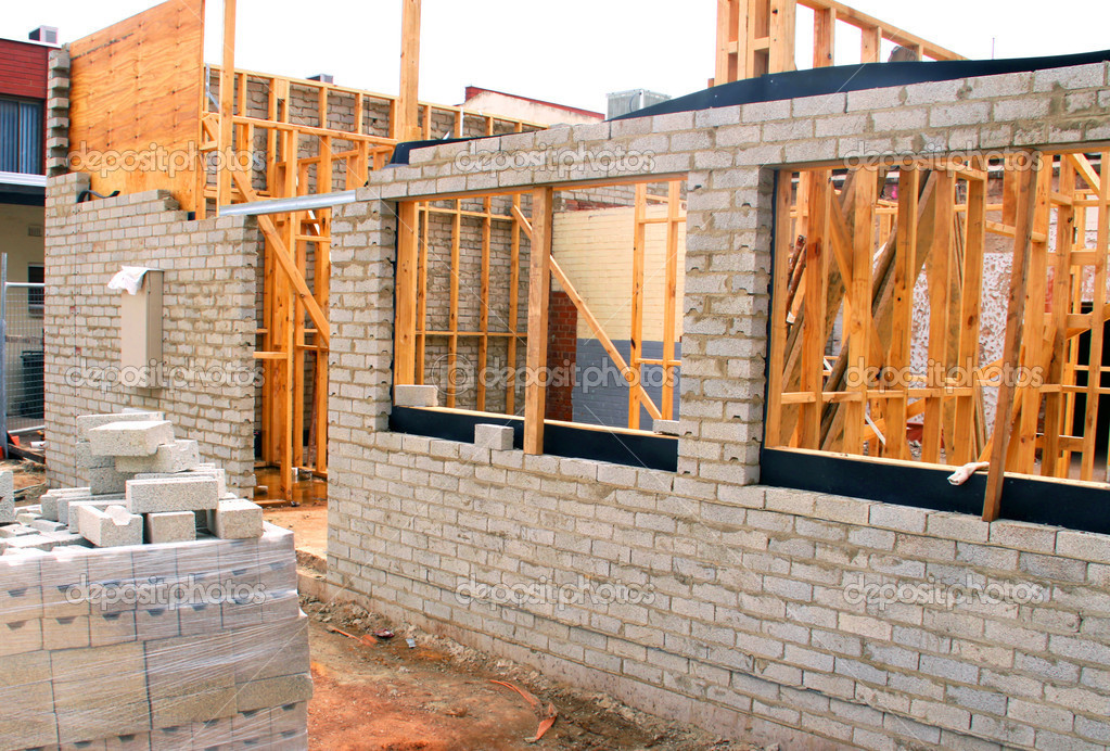 Residential Building Construction Site — Stock Photo ...