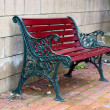 Iron and Wood Garden Bench — Stock Photo