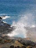 Spouting Horn Park Blowhole, Hawaii — Stock Photo