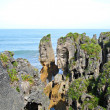 Punakaiki Pancake Rocks & Blowholes - Stock Photo