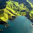 Northland Coastline Aerial, New Zealand - Stock Photo