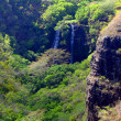 Tropical Valley of Opeakaa Falls, Hawaii - Stock Photo