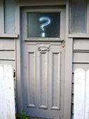 ドアに疑問符 — ストック写真