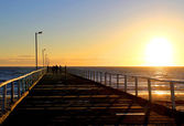 Sunset from Semaphore Jetty, Australia — Stock Photo
