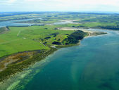Aerial View of Northland Coastline, NZ — Stock Photo
