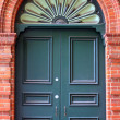 External Door in Decorative Brick Wall — Stock Photo