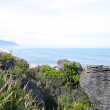 Pancake Rocks at Punakaiki, New Zealand - Stock Photo