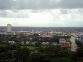 City landscapes of the city of Kuching, — Stock Photo