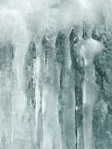 Ice stalactite — Stock Photo
