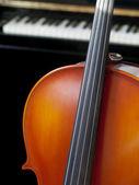 Cello and piano — Stock Photo