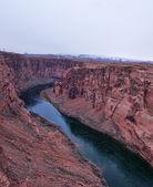 Glen canyon with colorado river — Stock Photo