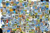 Pile of photos background — Stock Photo