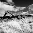 Infrared plough machine — Stock Photo