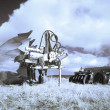 Plough machines on fields — Stock Photo #2463555