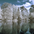 Infrared panoramic  landscape — Stock Photo