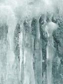 Ice stalactite — Stock Photo
