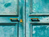 Turquoise door — Stock Photo