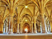 Glasgow university cloister arches HDR processed — Stock Photo