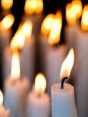 Candles burning — Stock Photo