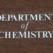 Department of chemistry sign — Foto de Stock
