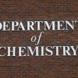 Department of chemistry sign — Stock Photo
