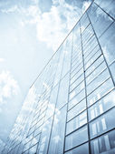 Blue office building — Stock Photo