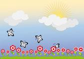 Sunny day — 图库矢量图片