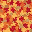 Background of the autumnal leaves — Stock Vector
