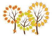 Sonbahar ağaçlar — Stok Vektör