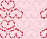 Seamlessbackground with hearts — Stock Vector