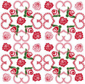 Background with hearts and roses — Stock Vector