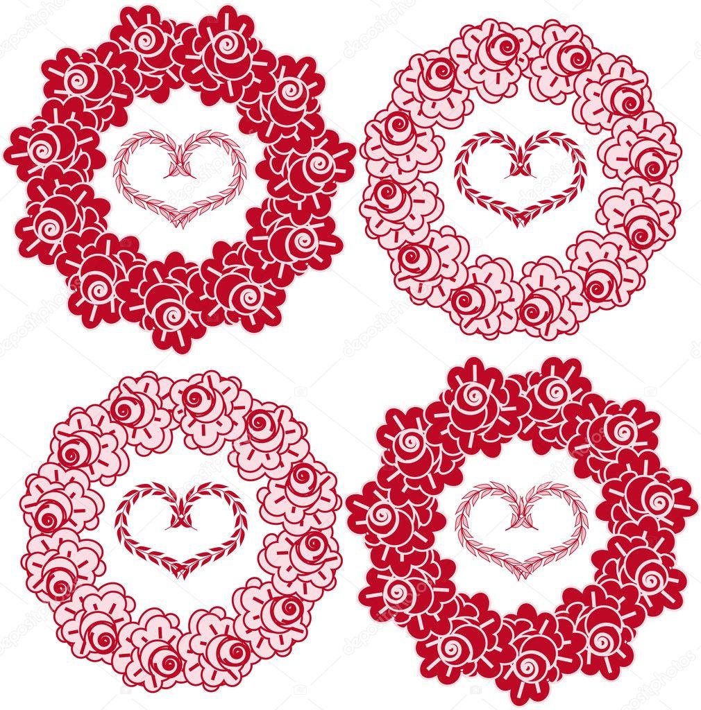 剪纸玫瑰图案大全简单图解