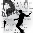 Stock Photo: Background of dancing