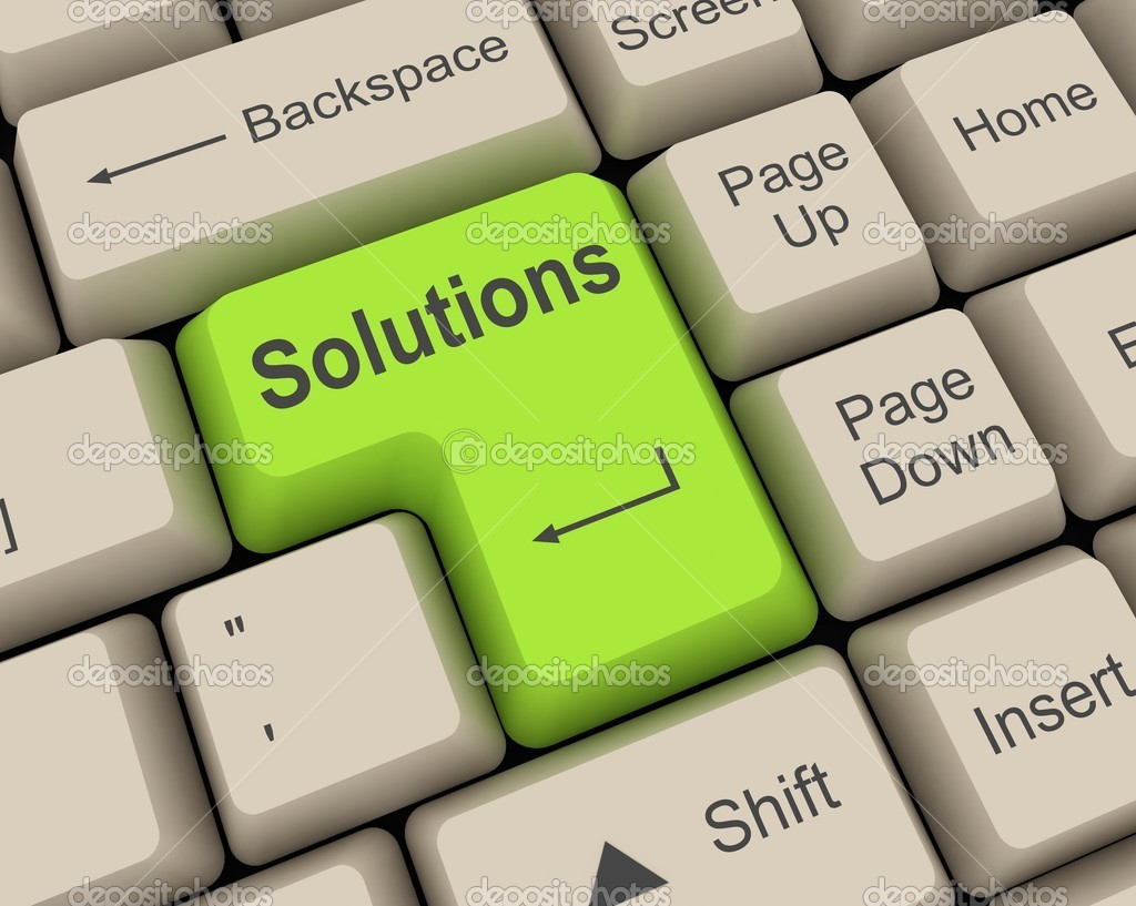 Green solution key — Stock Photo #2269451