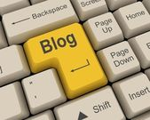 Blog Key — Stock Photo