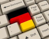 Germany Flag Key — Stock Photo