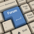 Stock Photo: Forum Key