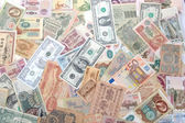 Money of the various states and times — Stock Photo