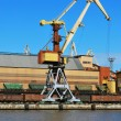 Stock Photo: Crane in port