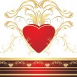 Royalty-Free Stock Vector Image: Heart and gothic ornament
