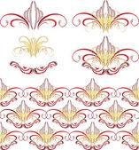 ゴシック様式の飾り。パターン — ストックベクタ