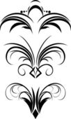 Fragment of gothic ornament — Stock Vector