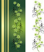 Decorative floral ornament for card — Stock Vector