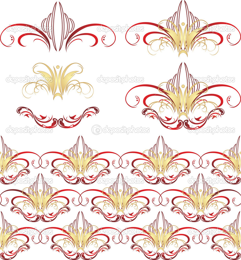 Gothic ornament. Patterns. Vector illustration — Stock Vector #2415719