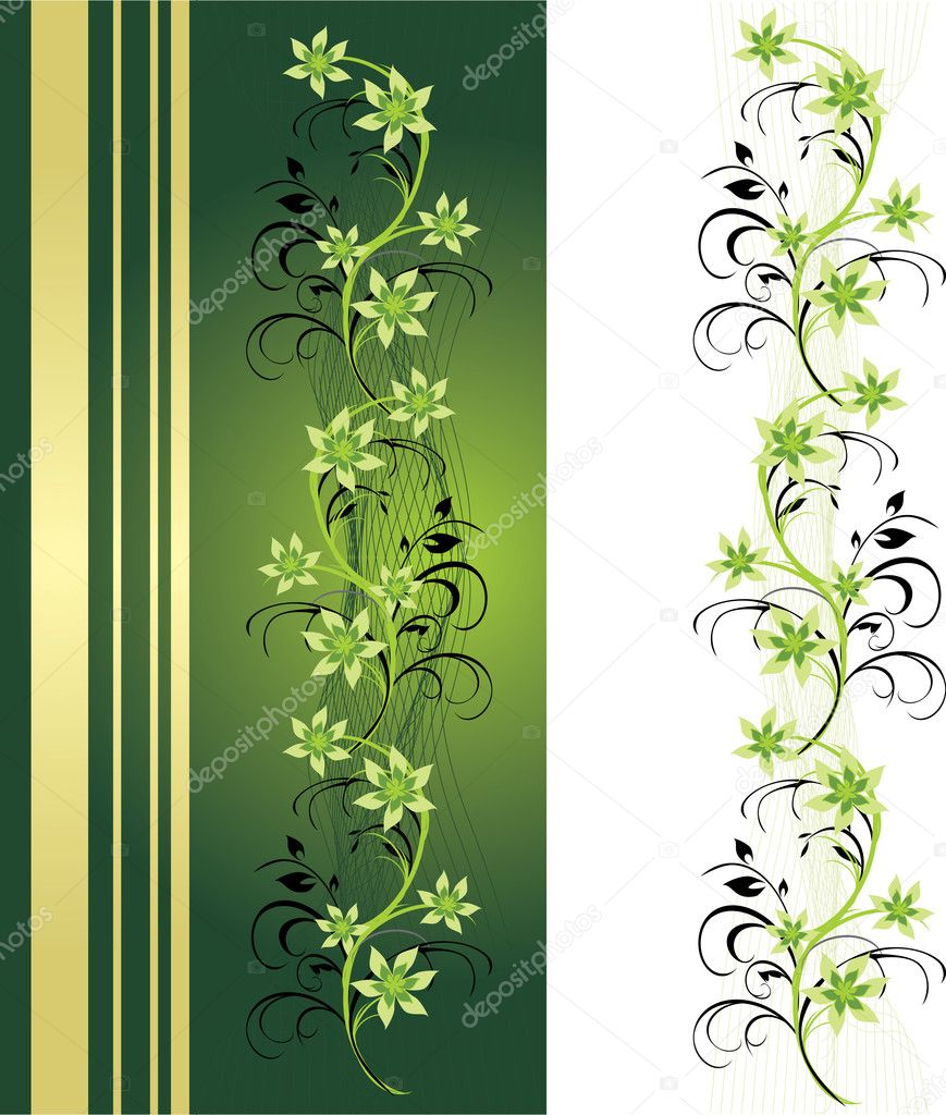 Decorative floral ornament for card and frame. Vector illustration — Stock Vector #2416686