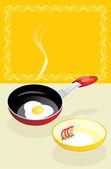 Kızarmış yumurta kahvaltı — Stok Vektör