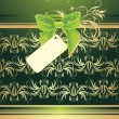 Royalty-Free Stock Vector Image: Green bow with card. Wrapping