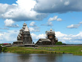 Onega lake. Archipelago of Kizhi — Stock Photo